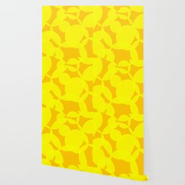 Abstract Circles In Yellow Wallpaper