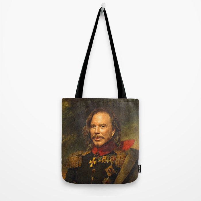 Mickey Rourke - replaceface Tote Bag