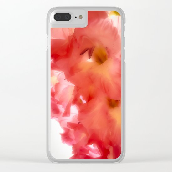 Soft Red Gladiola Clear iPhone Case