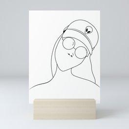 Amari Jade Logo Line Drawing Mini Art Print