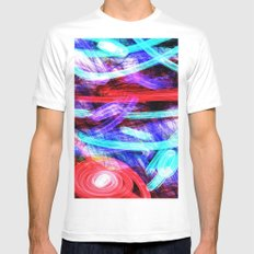 In the RED White MEDIUM Mens Fitted Tee