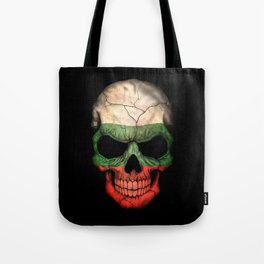 Dark Skull with Flag of Bulgaria Tote Bag
