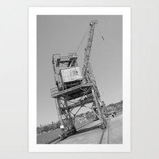 Dockyard crane Art Print