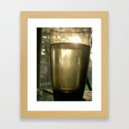 Tall drink of water Framed Art Print