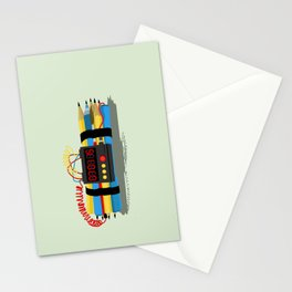 Even ideas bomb Stationery Cards