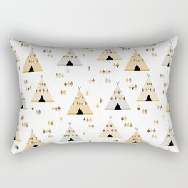 Teepees in yellow Rectangular Pillow
