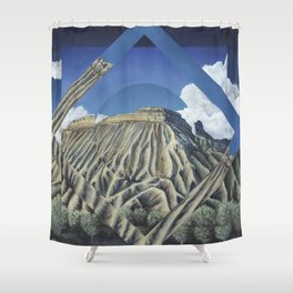 Mount Garfield Polyscape Shower Curtain