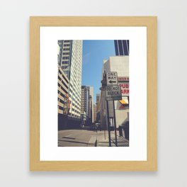 Akard Street Framed Art Print