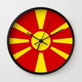 Macedonian national flag Wall Clock