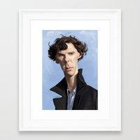 cumberbatch Framed Art Prints featuring Sherlock/Cumberbatch by Sri Priyatham