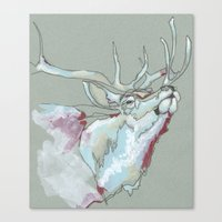 elk Canvas Prints featuring Elk by Sherie Myers