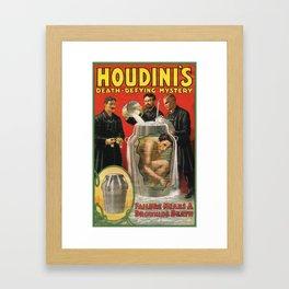 Houdini, vintage poster Framed Art Print