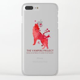 Vampire Project - Bloody Clear iPhone Case
