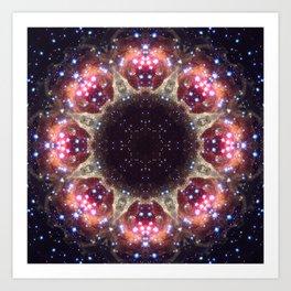 Space Mandala no6 Art Print