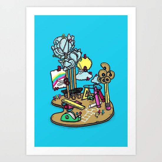 Creative Playground Art Print