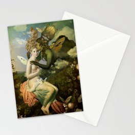 """The body, the soul and the garden of love"" Stationery Cards"