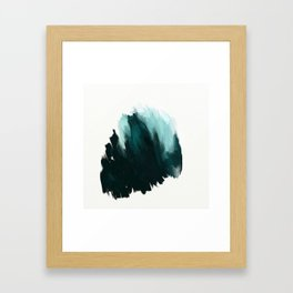 Our trip to the Oregon coast - an aqua blue abstract painting by JulesTillman Framed Art Print
