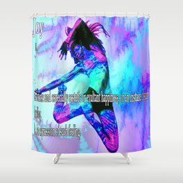 The Meaning of Joy Shower Curtain