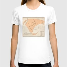 Vintage Map of Provincetown MA (1893) T-shirt