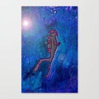 scuba Canvas Prints featuring Scuba  by Anaasofiac