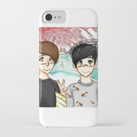 danisnotonfire iPhone & iPod Cases featuring Dan and Phil Japan by LonkFromPenn