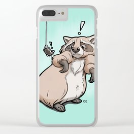 Yoikes! Raccoon Meets Spider Clear iPhone Case