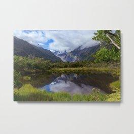 View on Fox Glacier. West Coast, New Zealand Metal Print