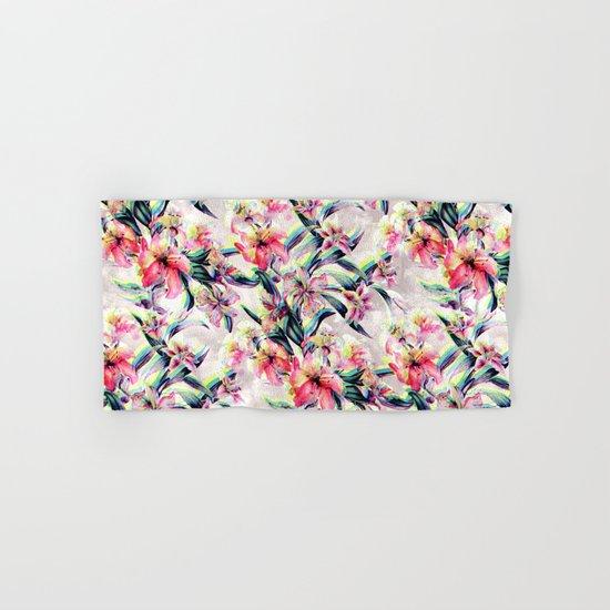 RPE Floral Glitch Hand & Bath Towel