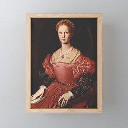 Agnolo Bronzino - Portrait of Lucrezia Panciatichi Framed Mini Art Print