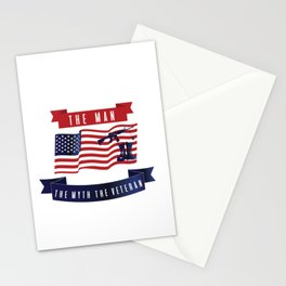 Dad The Man The Myth The Veteran Patriotic Stationery Cards