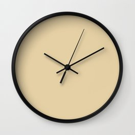 Blissful Retreat Light Beige Tan Taupe Solid Color Pairs To Sherwin Williams Lucent Yellow SW 6400 Wall Clock