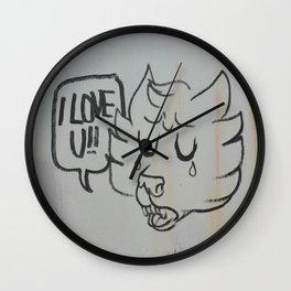 I LOVE U!! Wall Clock