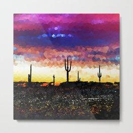 Rock Candy Desert Sunset. Metal Print
