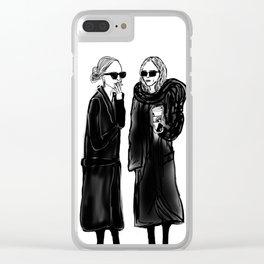 mary-kate n ashley 4 eva Clear iPhone Case