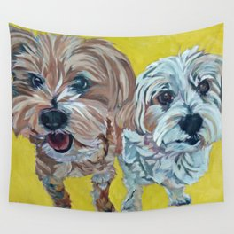 Ollie and Bailey Dog Portrait Wall Tapestry