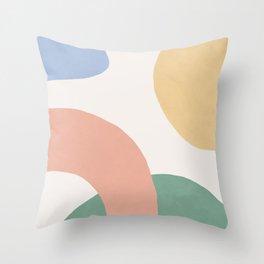 Paint Splotch Landscape Throw Pillow