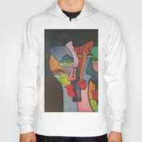 faces Hoodies featuring faces by loomy