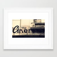 cinema Framed Art Prints featuring Cinema by Ioana Stef