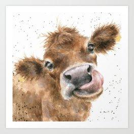Face baby cattle Art Print