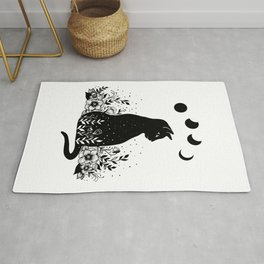 Night Garden Cat Rug