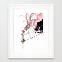 madoka magica Framed Art Prints featuring Puella Magi Madoka Magica by AliArt