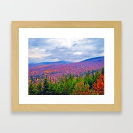 Brilliant Fall Colors at Ira Mountain in Kingfield, Maine (3) Framed Art Print