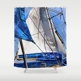 A Sailor Is An Artist And His Medium The Wind Shower Curtain