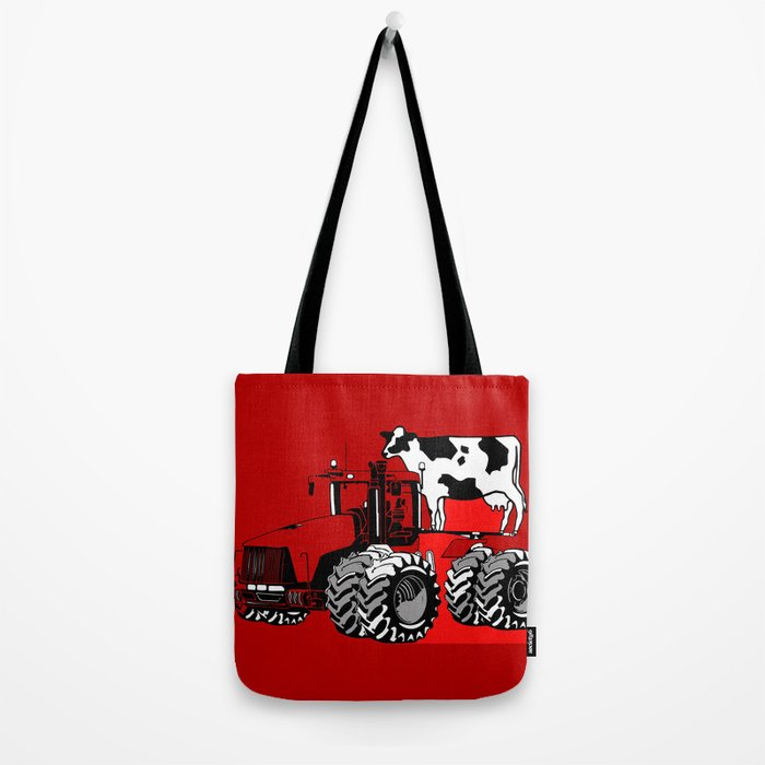 stolen tractor and cow Tote Bag