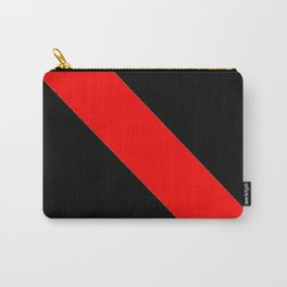Oblique red and black Carry-All Pouch
