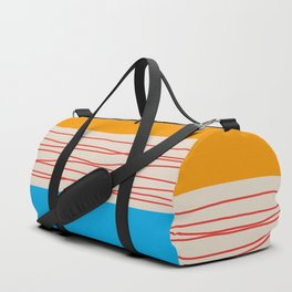 Minimal Retro Pattern Duffle Bag