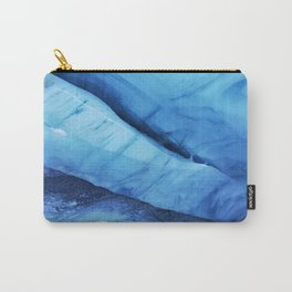 Blue ice of Blackcomb Glacier Ice Cave Carry-All Pouch