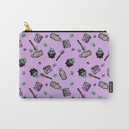 Purple Witches Brew & Fairy Dust Pattern Carry-All Pouch