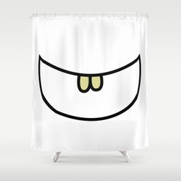 Smile 2 Two teeth  Shower Curtain