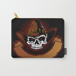 illustration of Cowboy skull Carry-All Pouch